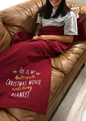 This is My Christmas Movie Watching Blanket Soft Red Throw Blanket for Thin Blanket for Holiday Grandparents