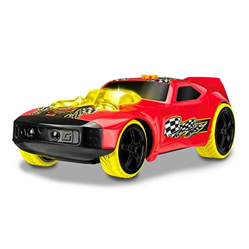 Hot Wheels Luces y Sonidos Mega Musculoso Drift Rod Coche