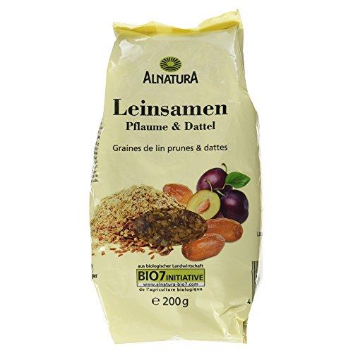 Alnatura Bio Leinsamen-Pflaume-Dattel, vegan, 6er Pack (6 x 200 g)