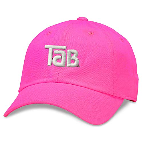 AMERICAN NEEDLE TaB Soda Ballpark Slouch Adjustable Strapback Hat Rose Pink