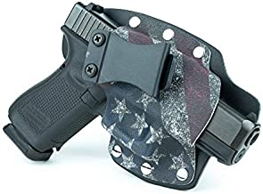 Infused Kydex USA Slanted Flag IWB Hybrid Concealed Carry Holster (Right-Hand, Taurus 4510PD Poly, Judge Public Defender)