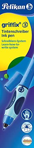 Pelikan Griffix Penna Sferografica Cancellabile, Impugnatura Ergonomica Pedagogica, Fusto Blu, per...