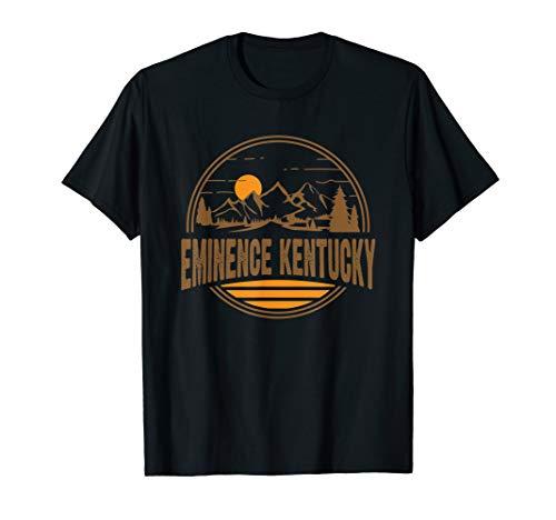 Vintage Eminence, Kentucky Mountain Hiking Souvenir Print T-Shirt