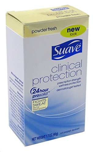 Suave Deodorant 1.7 Ounce Clinical Protection Powder Fresh (50ml) (6 Pack)