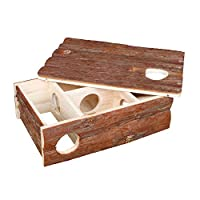 Playing and sleeping house Made from natural wood Removable roof Species appropriate rodent keeping Measures 35 cm length by 25 cm width by 11 cm height Good value High quality design