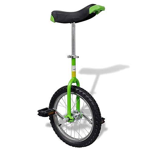 AYNEFY Monociclo Esercizio, Monociclo Regolabile Verde 16 Pollici/40,7 cm per Bambini/Adulti Monociclo Regolabile in Altezza