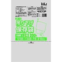 【5ケース特価】HHJ 吊り下げ規格袋 12号 食品検査適合 吊り下げタイプ 0.010×230×340mm 14000枚×5ケース 200枚×10冊×7箱×5 JK12