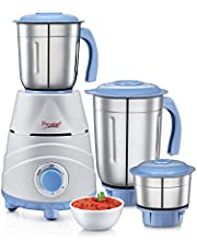 Prestige TEZ 550W Mixer Grinder with 3 Jars, Blue
