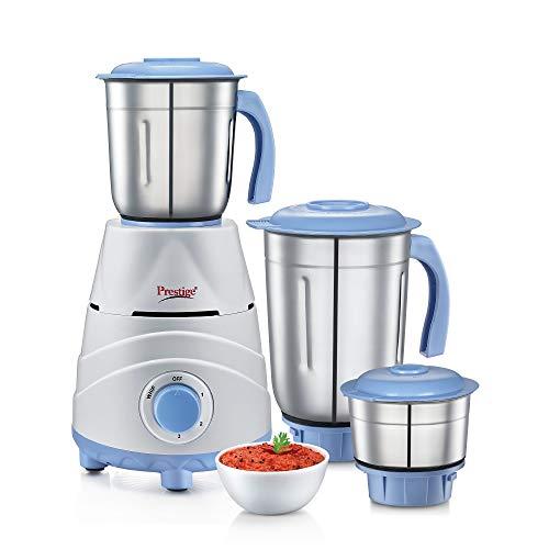 Prestige Tez (550 Watt) Mixer Grinder with 3 Stainless Steel Jars, White...