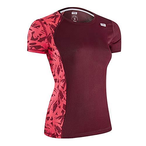 42K RUNNING - Camiseta técnica Lotus Mujer Wine S
