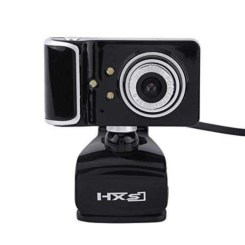 Richer-R HD Webcam, 16.0M Pixel HD Webcam,USB HD Webcam mit 3 LED-Lichter,Digital Video HD Eingebautes Mikrofon LED-Leuchten Webcam für PC Computer 3 Farben(Silver+Black)
