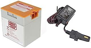 Orange 12V Power Wheels Battery 00801-1661 + 12 Volt Charger w/ Probe 00801-1778