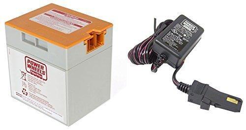 Power Wheels Orange 12V Battery 00801-1661 + 12 Volt Charger w/ Probe 00801-1778