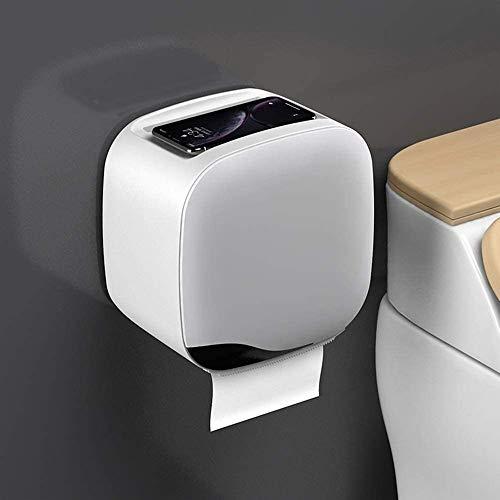 Toiletpapierhouder, multifunctioneel, tissuebox, toiletpapier, handdoekhouder, toiletpapier box, vrij stansen, waterdichte rol papier box lade lade rek