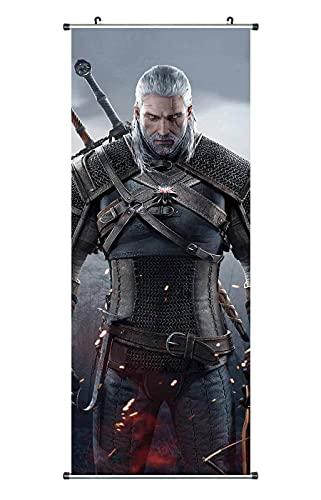 CosplayStudio Grand poster The Witcher en tissu Motif Geralt de Riva 100 x 40 cm