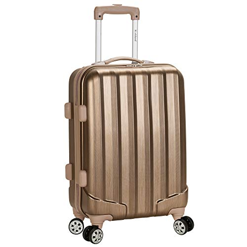 Rockland Santa Fe Hardside Spinner Wheel Luggage, Bronze, Carry-On 20-Inch