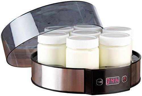 Rosenstein & Söhne Joghurtmaker: Joghurt-Maker mit Zeitschaltuhr, 7 Portionsgläser je 190 ml, 20 Watt (Jogurtbereiter)
