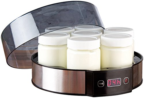 Rosenstein & Söhne Joghurtmaker: Joghurt-Maker mit Zeitschaltuhr, 7 Portionsgläser je 190 ml, 20 Watt (Joghurtmacher)
