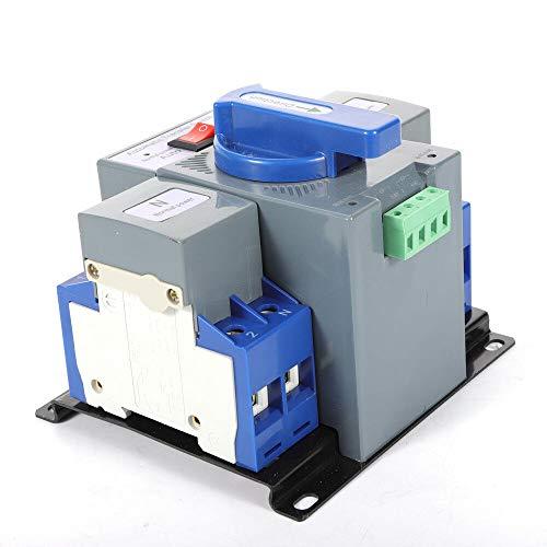 Interruptor de transferencia automático de doble potencia, 2 P, 63 A, 220 V, mini doble potencia, interruptor de transmisión automático, interruptor de conmutación automático