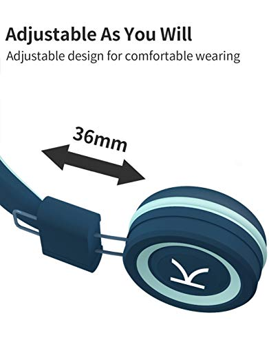 KidMoments K12 Kids Headphones with 85dB Volume Limited Hearing Protection,Made of Food Grade Material,BPA-Free,Tangle-Free Cord,Wired On-Ear Headphones for Children,Toddler,Baby