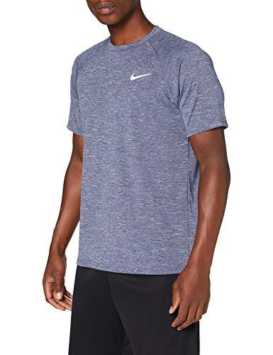 Nike Herren Short Sleeve Hydrog Unterhemd, blau (Midnight Navy), M