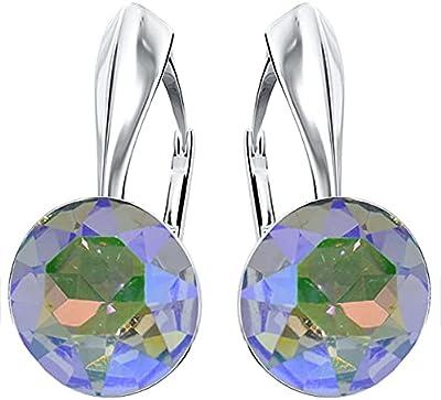 BEFORYA PARIS – *Ghost Light* Argento 925 * Donne * – Orecchini con cristalli magici – Bellissimi orecchini da donna – Meravigliosi orecchini con scatola per gioielli