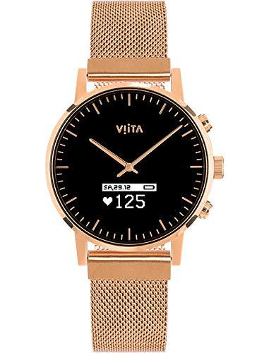 Viita Watch Hybrid HRV Classic mit Mesh-Armband, rosé/rosé