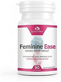 Feminine Ease Hormonal Balance Supplement for PMS, PMDD, Cramps, Menopause, Hot Flashes & Mood Swings – Gluten Free, Vegan Friendly Hormone Balancing Pills – 90 Vitamins to Balance Hormones