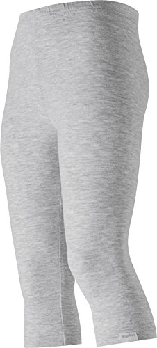 Playshoes Mädchen Capri, Oeko-Tex Standard 100 Legging, Grau (grau/Melange 37), 86