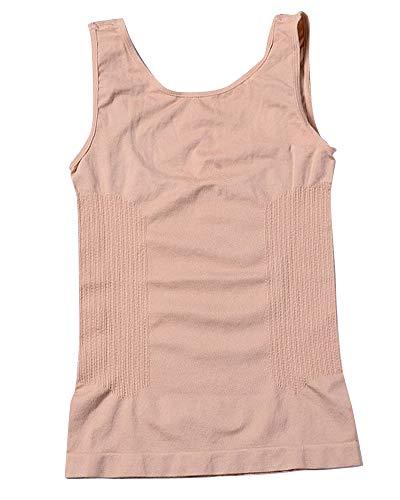 Quge Fajas Reductoras Adelgazantes Camisetas Moldeadora Body Reductor Compresión Lencería para Mujer Desnudo XL