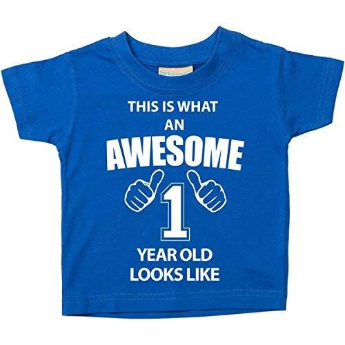 C'est ce qu'un Awesome 1er anniversaire 1an old Looks Like Bleu pour Bébé Enfant disponible en tailles 0-6mois à 14-15ans nouveau bébé cadeau Sister - Bleu, 18-24 Months