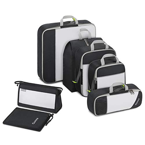 Gonex Compression Packing Cubes Extensible Storage Mesh Bags Travel Luggage Packing Organizers