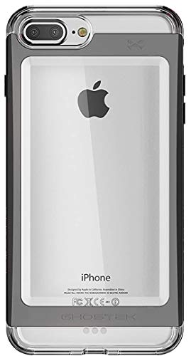 Ghostek Cloak Clear iPhone SE 2020, iPhone 8, iPhone 7 Case with Metal Bumper Design Shockproof Heavy Duty Protection Wireless Charging 2020 iPhone SE, 2017 iPhone 8, 2016 iPhone 7 (4.7 Inch) - Black