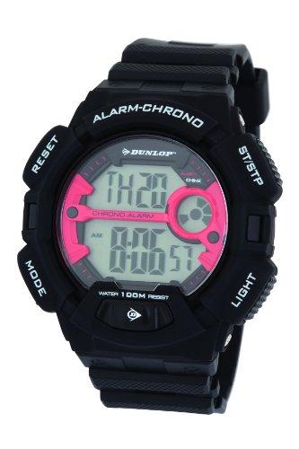 Dunlop Reloj Digital para Hombre de Cuarzo con Correa en Caucho DUN225G07