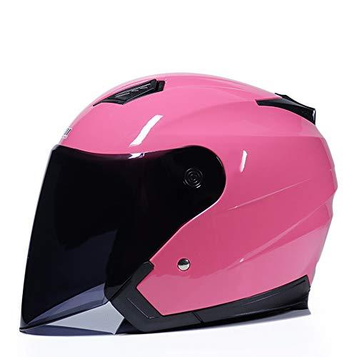ZHXH Casco de Moto Casco de Bicicleta eléctrica de Tipo Abierto de...