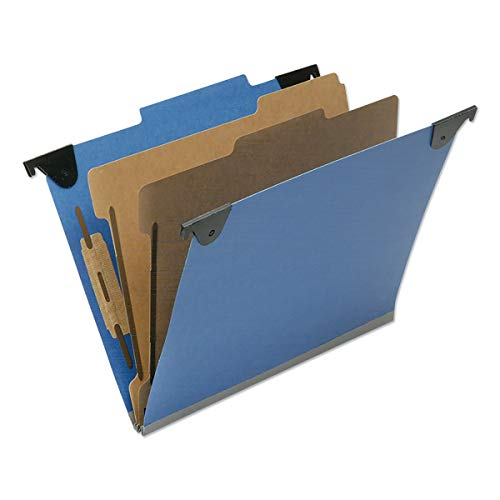 Ability One NSN6817011 2 Divider Letter Size Classification Folder44; Royal Blue - Box of 10