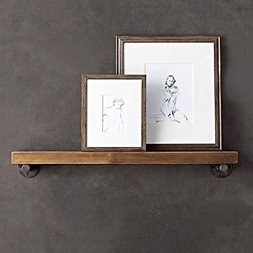 AFQHJ Display planken Zwevende planken Rustieke Houten Wandplanken Multifunctionele Wandplank Stabiele Stalen Frame Structuur Voor Slaapkamer, Woonkamer