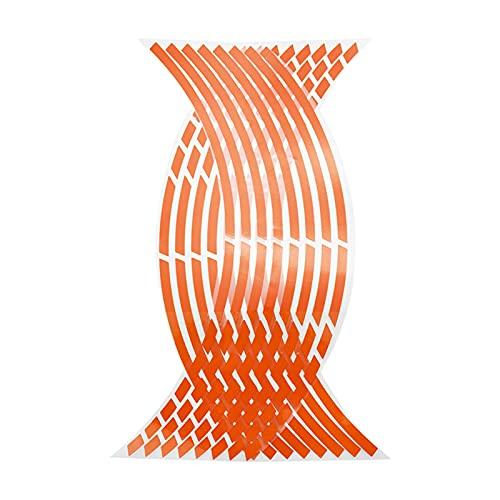 ffniwo KKKKKK Strips de Estilo de automóvil Pegatinas de Rueda de Motocicleta Reflectante de Motocross de Motocicleta 17/18 Pulgadas de Cinta Reflectante de rím (Color Name : Orange)