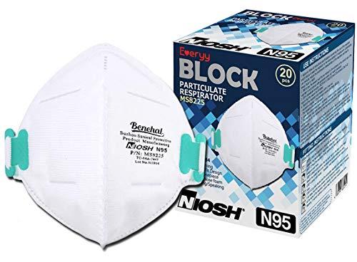 Everyy N95 マスク NIOSH認定 MS8225 5枚入