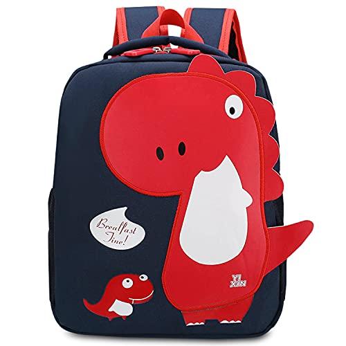 lilibaby Mochila Infantil Dinosaurio Kindergarten,Pequeñas Mochilas Bolsas Escolares de Dibujos Animados Animales para Niñas Primaria Linda Bolso Bebe Guarderia Preescolar para 2-5 años