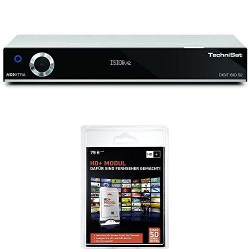 Technisat Digit ISIO S2 - HDTV Twin-Satellitenreceiver (PVR-Funktion via USB oder im Netzwerk, UPnP-Livestreaming, 3x USB 2.0, CI+, Ethernet), silber + HD Plus Modul inkl. HD+ Sender-Paket für 6 Monate gratis