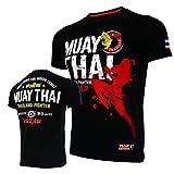 Camiseta Jerseys Camiseta De Manga Corta Ropa De Combate Muscle Muay Thai Algodón Kick Boxing Camisas-Negro_L