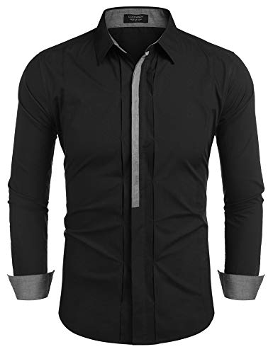 Coofandy Men's Button Down Dress Shirts Casual Slim Fit Shirts