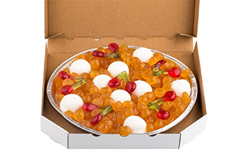 Fruchtgummi Pizza Margherita, süße Pizza, Party-Pizza aus Fruchtgummi, im echten Pizza-Karton, 700g