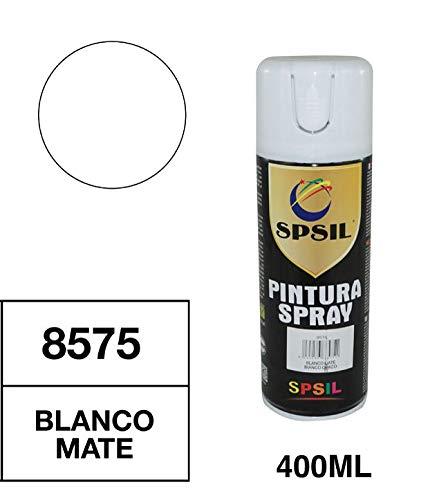 Spsil 8575 Pintura Spray Blanco Mate 400 Ml
