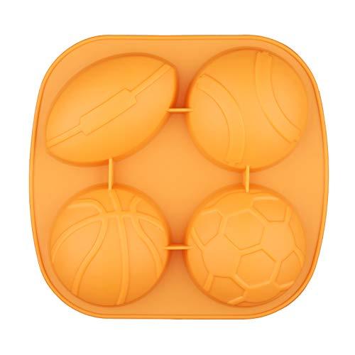 Silikonform für Eiswürfel, Sportler, Korb, Ball, Rugby, Tennis, Fußball, Schokolade, Süßigkeiten, Gelee, Schnapsform, Mini-Kuchen, Cupcake-Backform