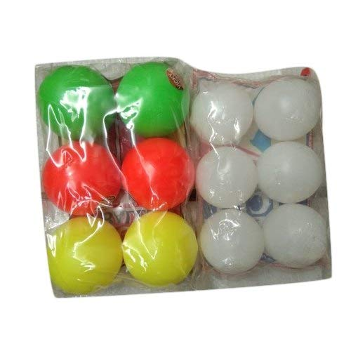 Yashvin Cricket Plastic Ball Set of 12 Pcs Best for Gully Cricket