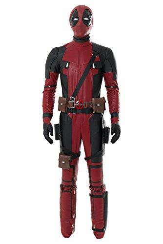 Disfraz de Deadpool de lycra, de cuerpo entero, cosplay para Halloween, color rojo rojo XL