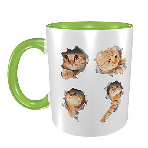 3D-Katzen-Tasse aus Keramik, 355 ml