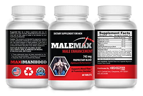 Max Optimized- Male Enlargement Pills- Increase Male Size Up to 3 Inches Fast- Powerful Formula for Length, Girth and Stamina- 60 Tablets